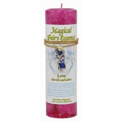 Love Pillar Candle With Fairy Dust Necklace 6 1/2\