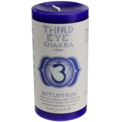 Third Eye Chakra Pillar Candle 3\