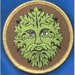 Green Man Iron-On Patch 3\