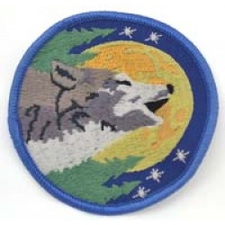 Wolf Sew-On Patch 3\