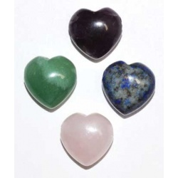 15mm Heart Beads Various Stones (2/Pk)