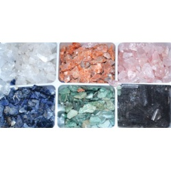 6 Piece Untumbled Stones Set  5 Lb