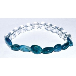 Apatite Nuggets & Quartz Gemstone Bracelet