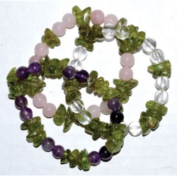 Peridot Faceted With Assorted Gemstone Bracelet