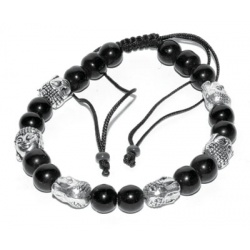 Balck With 6 Buddha Bead
