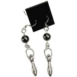 Hematite Goddess Earrings