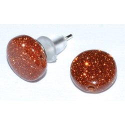 Red Goldstone Stud Earrings