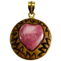 Clay And Gemstone Pendant
