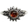 Amber Sun Ring Size 10