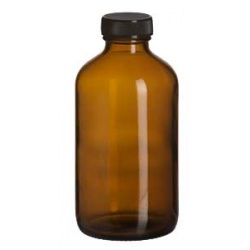 Amber Bottle With Cap 16oz