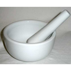 White Ceramic Mortar And Pestle Set