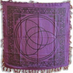 Purple Triquetra Altar Cloth 36\