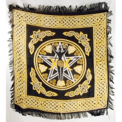 Pentagram Goddess Altar Cloth 18\