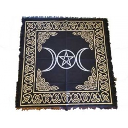 Triple Moon Pentagram Altar Cloth 24\