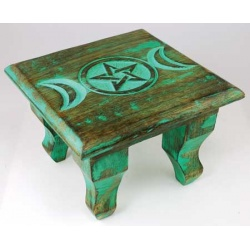 Antiqued Triple Moon Altar Table 6\