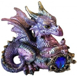 Pink/Purple Dragon W/ Stone 4