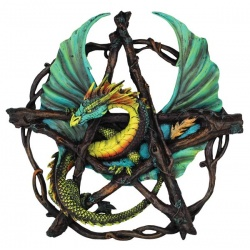 Forest Pentagram Dragon Wall Plaque 13\