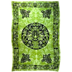 Green And Black Green Man Tapestry 72\