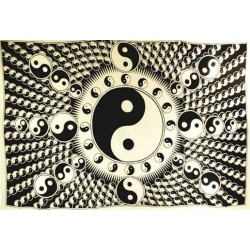White And Black Yin Yang Tapestry 72\